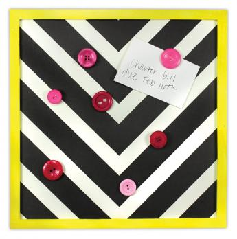Pink Button Cork Board