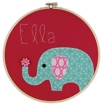 Elephant Embroidery Hoop