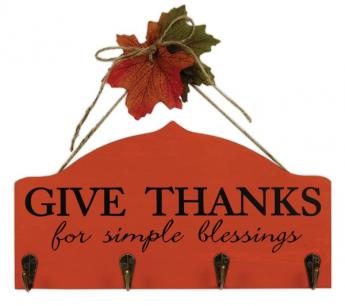 Give Thanks Hook Plaque