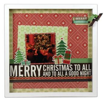Merry Christmas 12x12 Shadow Box