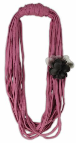 Pink Noodle Yarn Necklace