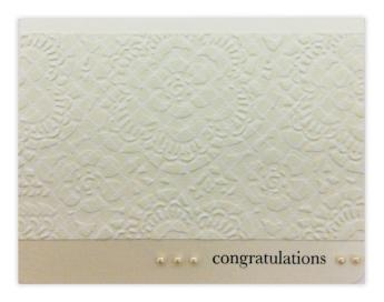 Embossed Doily Wedding Card