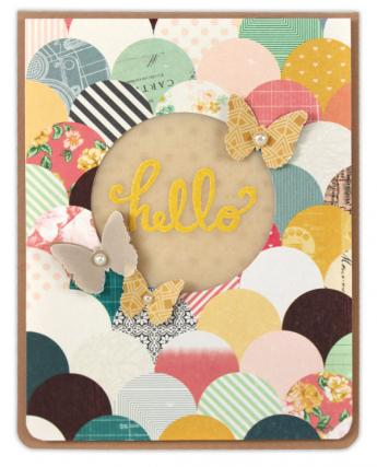 Vellum Hello Card