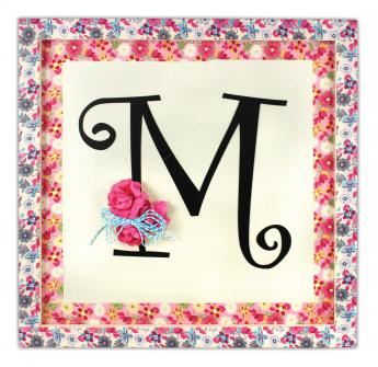 Floral Fabric Frame