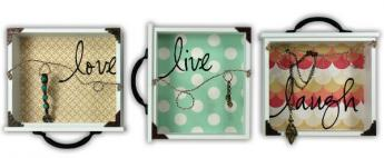 Live Laugh Love Drawer Jewelry Holder