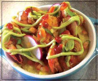 Creamy Polenta with Shrimp & Chorizo Creole Sauce