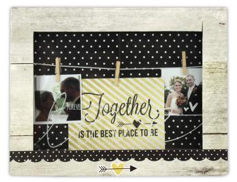 Love Forever Clothesline Shadowbox