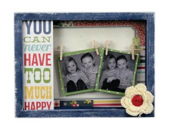Happy Clothespin Shadow Box