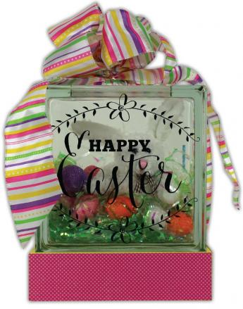 Happy Easter Glass Block