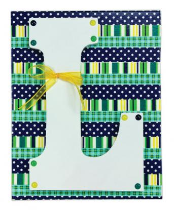 Washi Tape Letter Canvas