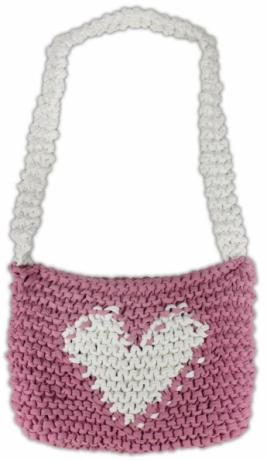 Noodle Yarn Heart Bag