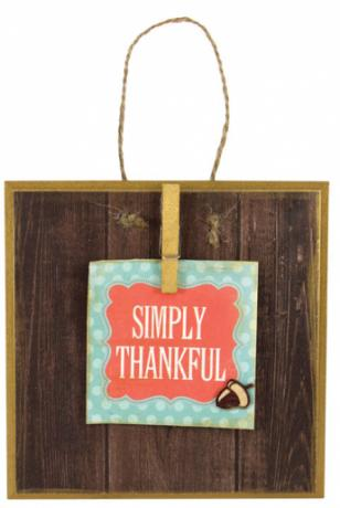 Simply Thankful Tile