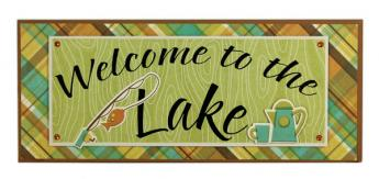 Welcome To The Lake Plaque