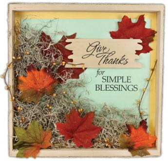 Give Thanks Wood Painting Panel