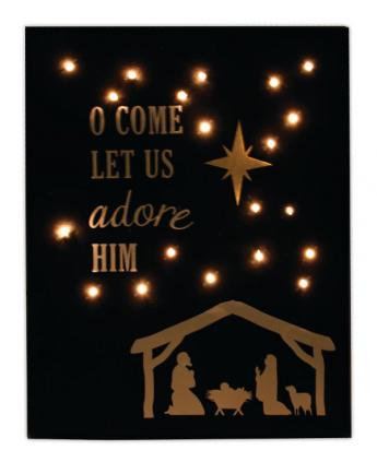 Adore Him Light Up Canvas