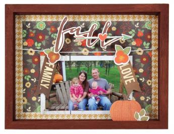 Fall Clothesline Shadowbox