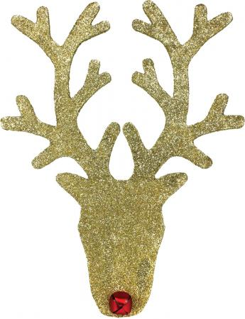 Gold Glitter Deer Head
