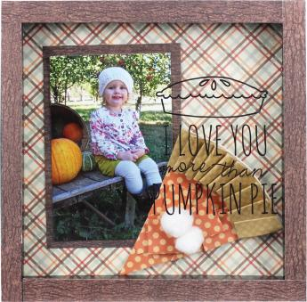 Pumpkin Pie 8x8  Shadowbox