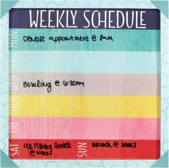 Family Schedule Dry Erase