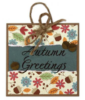 Autumn Greetings 5x5 Tile
