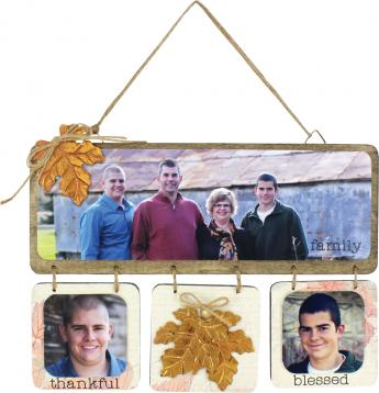 Family Thankful Blessed Hanging Plaque