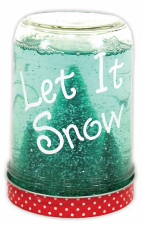 Let It Snow Snow Globe Jar