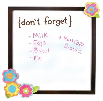 Don't Forget Dry Erase Memo Boards