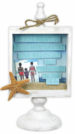Count All the Waves Pedestal Shadowbox