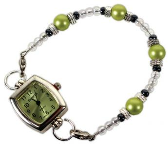 Beaded Green Watch