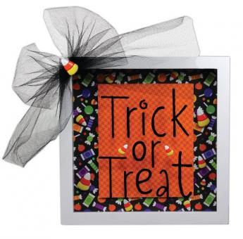 Trick or Treat 8x8 Shadow Box