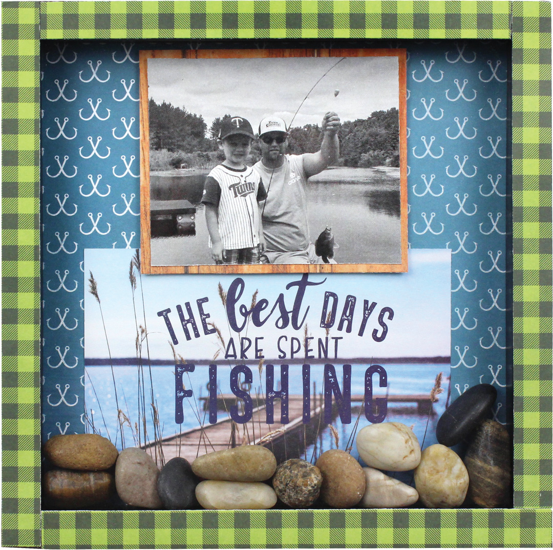 8x8 best days are fishing shadowbox crafts direct for Best fishing days