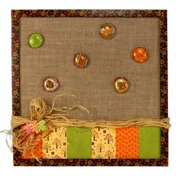 Happy Harvest Burlap Bulletin Board Crafts Direct