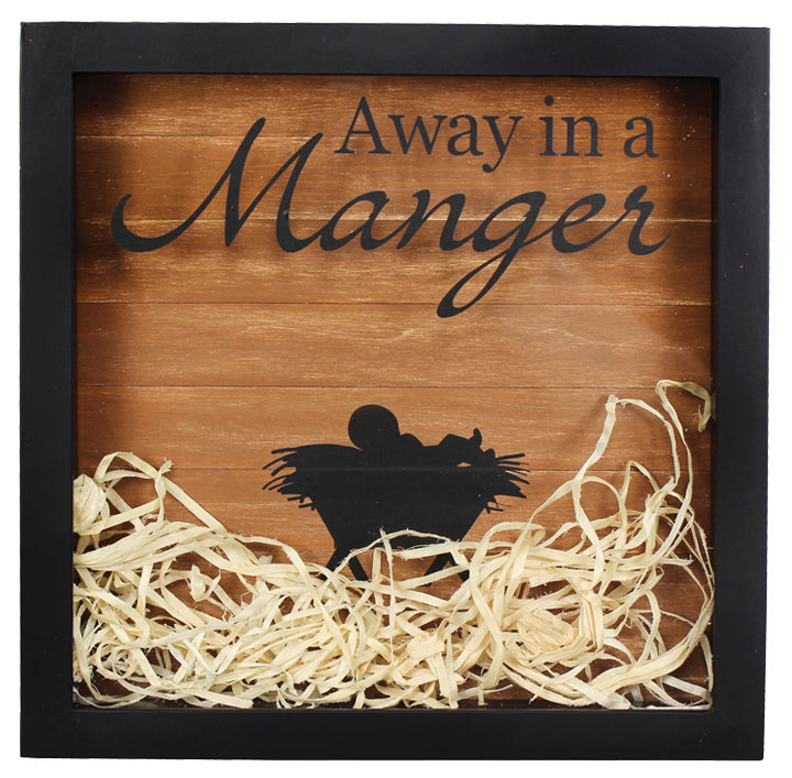 Away In A Manger Shadowbox Crafts Direct