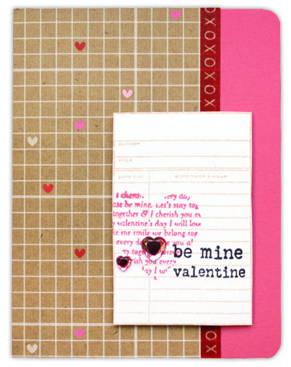 Be mine kraft card crafts direct be mine kraft card voltagebd Gallery