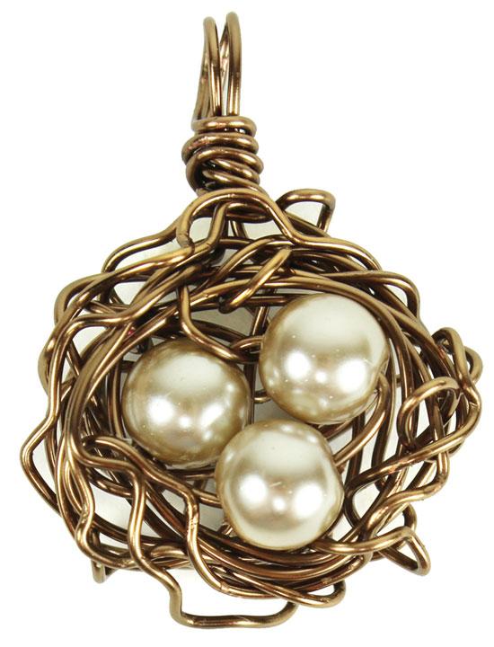 Working with wire jewelry bird nest pendant crafts direct working with wire jewelry bird nest pendant aloadofball Choice Image