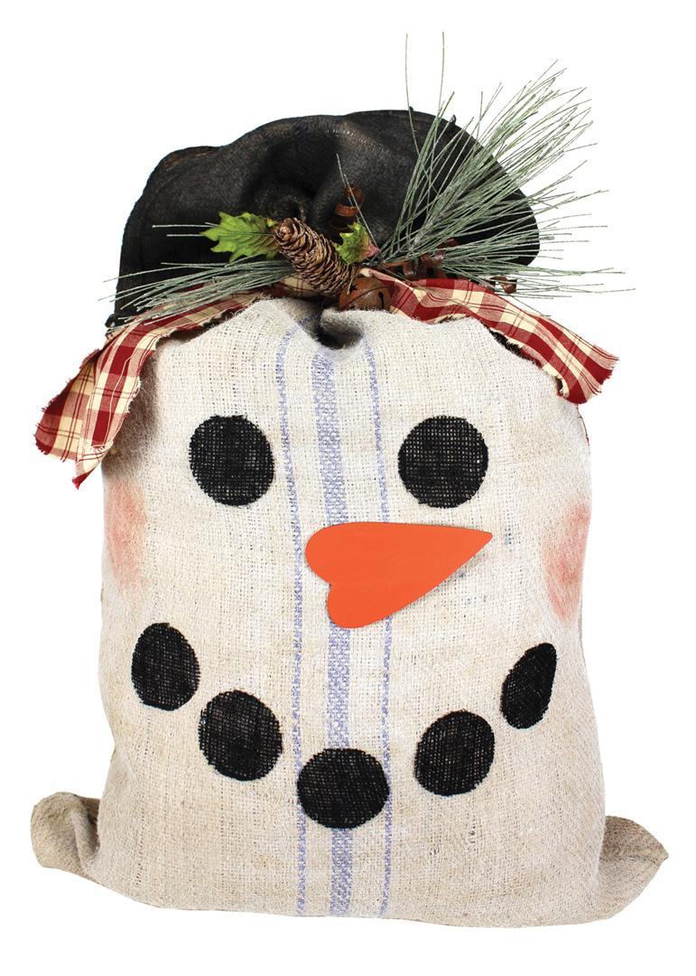 Burlap Coffee Sack Snowman