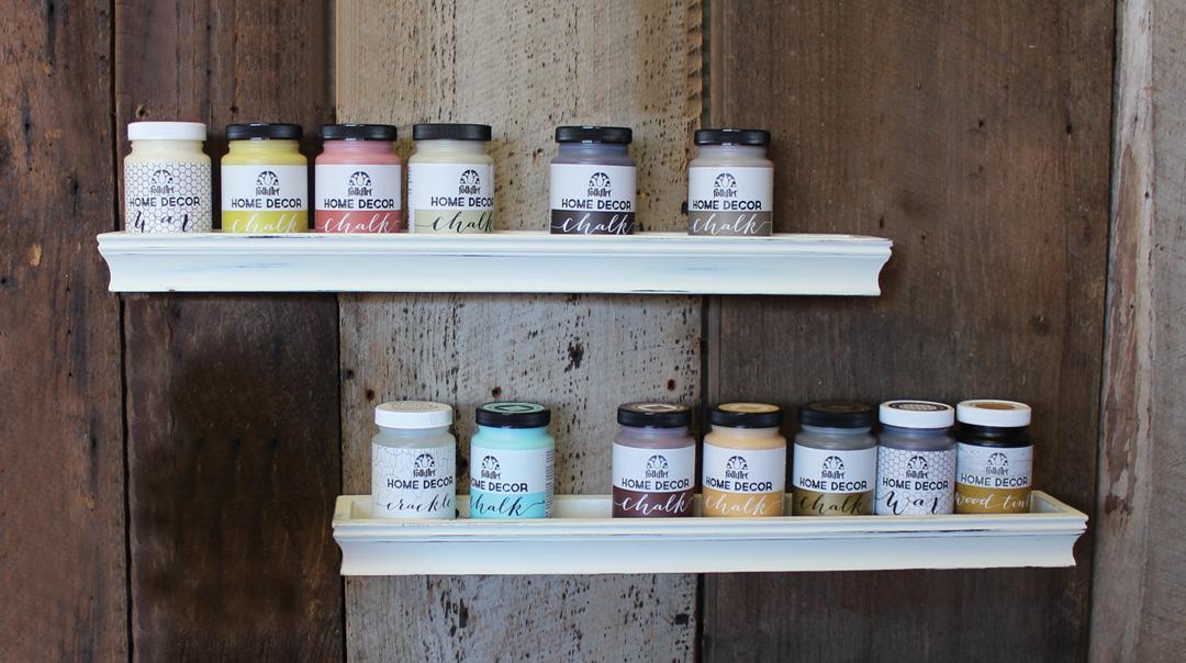 chalk paint display shelves crafts direct rh craftsdirect com paint for shelves best paint for fridge shelves