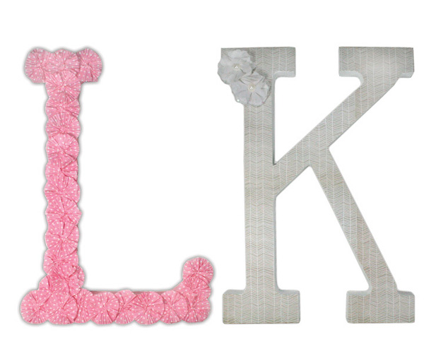 Decorated Paper Mache Letters Crafts Direct