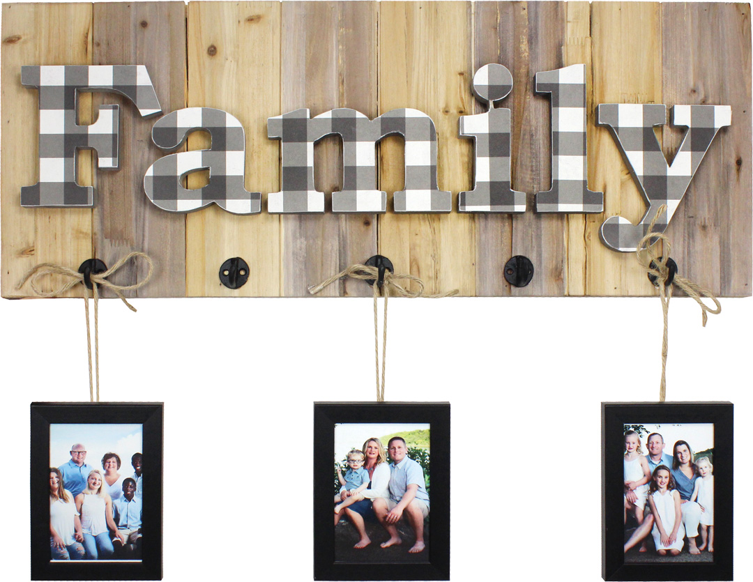 Family Pallet w/ Three Frames | Crafts Direct