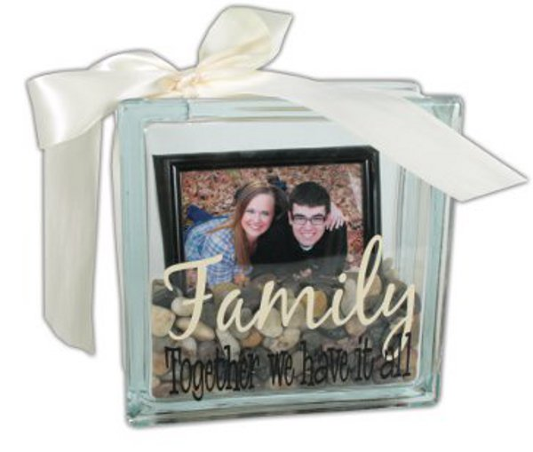 Family glass block crafts direct for Clear glass blocks for crafts