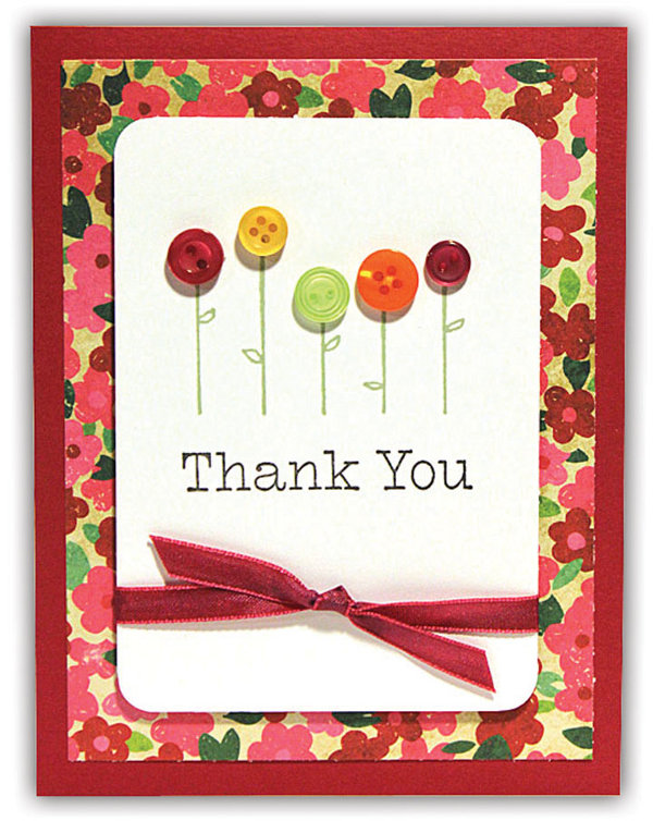Flowers To Thank You Card Crafts Direct