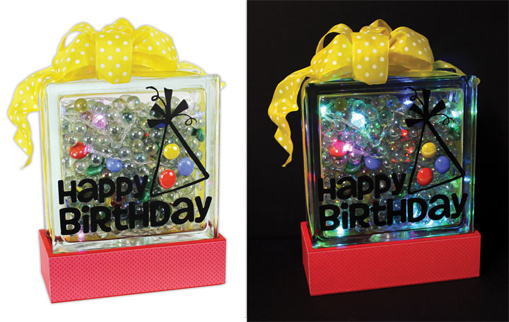 Happy Birthday Glass Block Crafts Direct