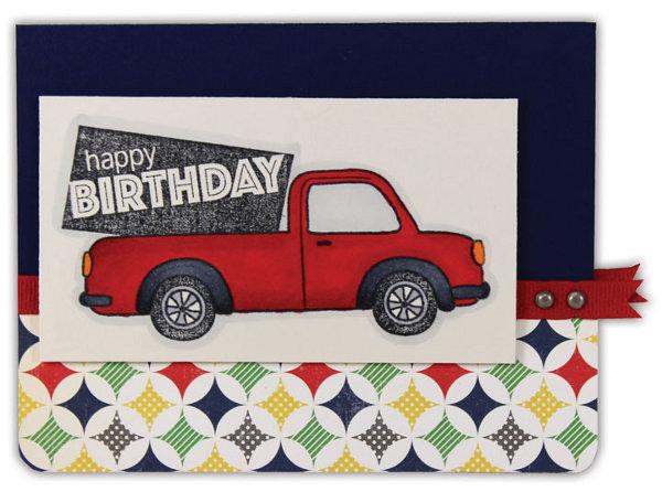 Red Truck Birthday Card