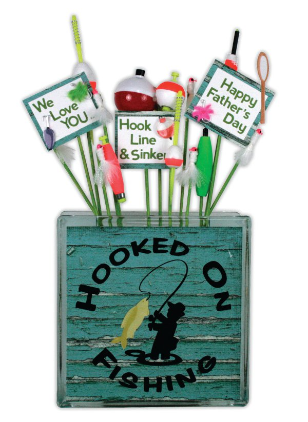 Hooked On Fishing Glass Block Crafts Direct