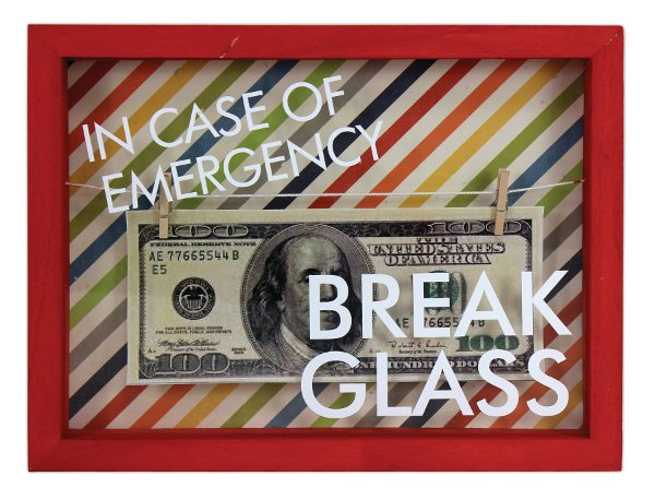 In Case Of Emergency Money Frame Crafts Direct