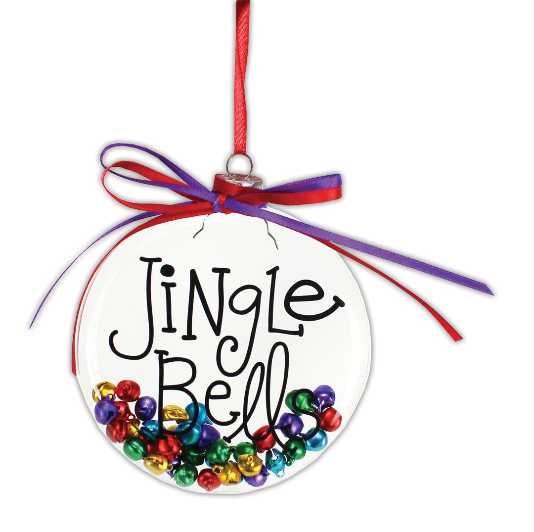 Jingle Bells Flat Disc Ornament