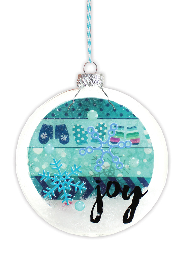 Joy snowflake flat disc ornament crafts direct for Glass discs for crafts