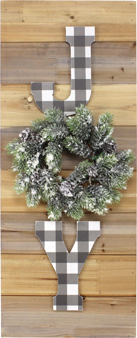 Joy W Wreath Pallet Board Crafts Direct