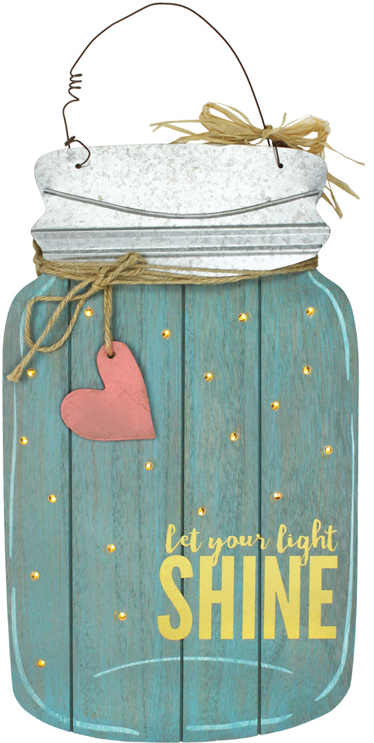 Mason Jar Wood Door Hanger