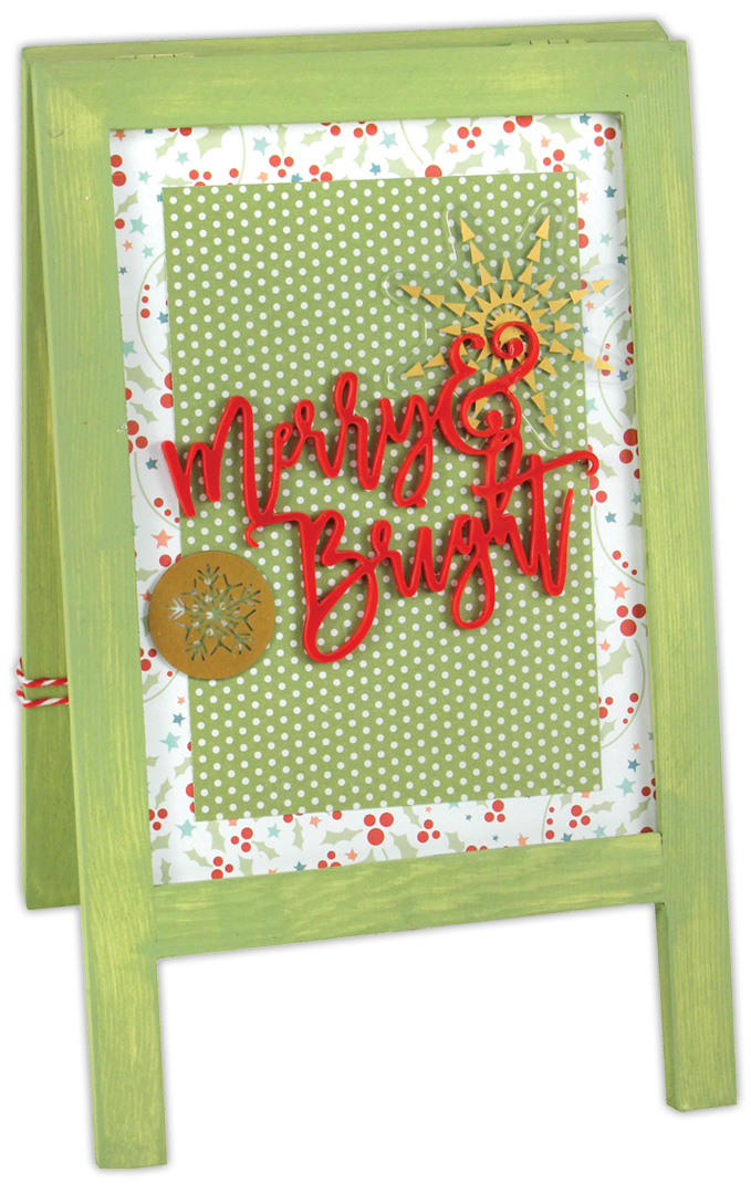 Merry Amp Bright Easel Frame Crafts Direct
